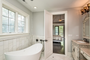 Master Bathroom Tub View