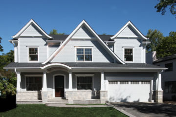 Luxury Transitional Nantucket Style Home, Northbrook Construction Project. Custom Home Builders: New Construction
