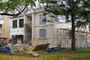 New Construction Custom Home in Skokie – Mason Work