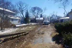 Custom-Home - New-Construction-Project-in-Glencoe - Trees-down-ready-for-excavation