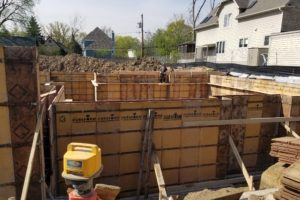 New Construction Project in Glencoe – Ready to pour foundation walls