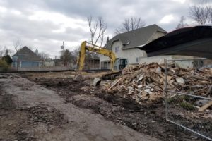 Demolition Started - New Construction in Glencoe